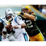 "Green Bay Packers Clay Matthews Sacking Cam Newton Signed 16"" x 20"" Photo"