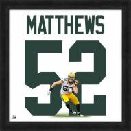 Green Bay Packers Clay Matthews Uniframe Framed Jersey Photo