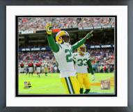 Green Bay Packers Damarious Randall 2015 Action Framed Photo