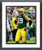 Green Bay Packers David Bakhtiari 2014 Action Framed Photo