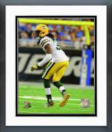 Green Bay Packers Davon House 2014 Action Framed Photo