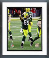 Green Bay Packers Desmond Bishop Super Bowl XLV Action Framed Photo