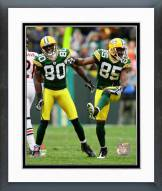 Green Bay Packers Donald Driver & Greg Jennings 2008 Action Framed Photo