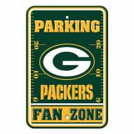 Green Bay Packers Fan Zone Parking Sign
