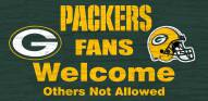 Green Bay Packers Fans Welcome Wood Sign