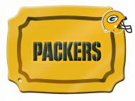 Green Bay Packers Glass Rectangle Platter with Charm