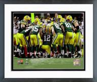 Green Bay Packers Green Bay Packers Huddle Super Bowl XLV Framed Photo