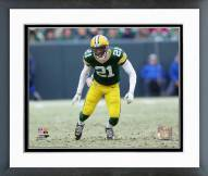 Green Bay Packers Ha Ha Clinton-Dix 2014 Playoff Action Framed Photo