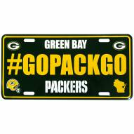 Green Bay Packers Hashtag License Plate
