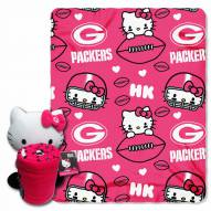 Green Bay Packers Hello Kitty Blanket & Pillow