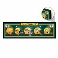 Green Bay Packers Helmets Wood Sign