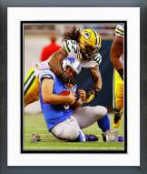 Green Bay Packers Jamari Lattimore 2014 Action Framed Photo