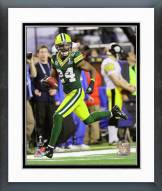 Green Bay Packers Jarrett Bush Super Bowl XLV Action Framed Photo