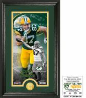 Green Bay Packers Jordy Nelson Supreme Bronze Coin Panoramic Photo Mint