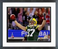 Green Bay Packers Jordy Nelson Super Bowl XLV Celebration Framed Photo