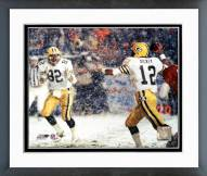 Green Bay Packers Lynn Dickey Snow Shot Framed Photo