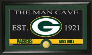 Green Bay Packers Man Cave Bronze Coin Panoramic Photo Mint