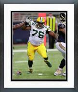 Green Bay Packers Mike Daniels 2014 Action Framed Photo