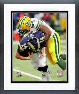 Green Bay Packers Mike Pennel 2014 Action Framed Photo