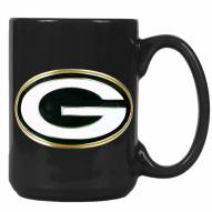 Green Bay Packers NFL 2-Piece Ceramic Coffee Mug Set