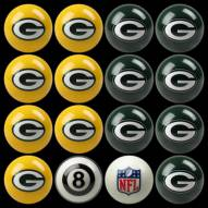 Green Bay Packers NFL Home vs. Away Pool Ball Set