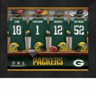 Green Bay Packers NFL Personalized Locker Room 11 x 14 Framed Photograph