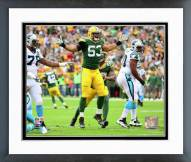 Green Bay Packers Nick Perry 2014 Action Framed Photo