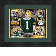 Green Bay Packers Personalized 13 x 16 Framed Action Collage