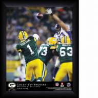 Green Bay Packers Personalized NFL Action QB Framed Print
