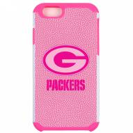 Green Bay Packers Pink Pebble Grain iPhone 6/6s Plus Case