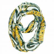 Green Bay Packers Plaid Sheer Infinity Scarf