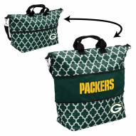 Green Bay Packers Quatrefoil Expandable Tote