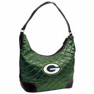 Green Bay Packers Quilted Hobo Handbag