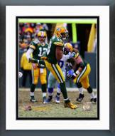 Green Bay Packers Randall Cobb 2014 Playoff Action Framed Photo