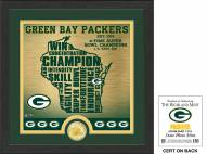 Green Bay Packers State Bronze Coin Photo Mint