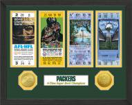 Green Bay Packers Super Bowl Ticket Collection Framed