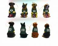 Green Bay Packers Team Dog Ornaments