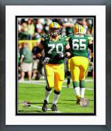 Green Bay Packers T.J. Lang 2014 Action Framed Photo