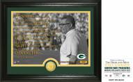 Green Bay Packers Vince Lombardi Quote Bronze Coin Photo Mint