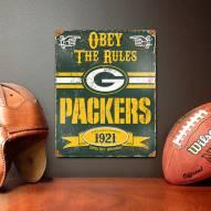 Green Bay Packers Vintage Metal Sign