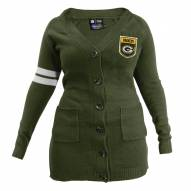 Green Bay Packers Women's Olive Varsity Cardigan
