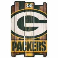 Green Bay Packers Wood Fence Sign