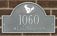 Houston Texans NFL Personalized Address Plaque - Pewter Silver