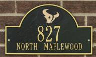 Houston Texans NFL Personalized Address Plaque - Black Gold