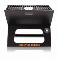 Houston Astros Black Portable Charcoal X-Grill