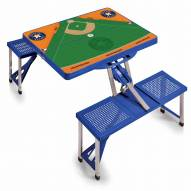 Houston Astros Blue Sports Folding Picnic Table