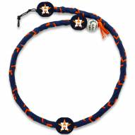 Houston Astros Frozen Rope Color Baseball Necklace