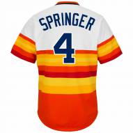 Houston Astros George Springer Cooperstown Rainbow Replica Baseball Jersey