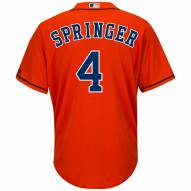 Houston Astros George Springer Replica Orange Alternate Baseball Jersey