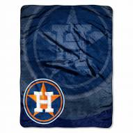 Houston Astros Retro Raschel Throw Blanket
